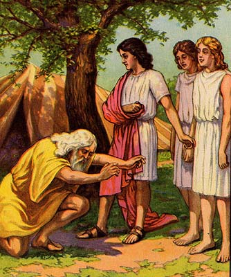 Abraham Meeting the Three Strangers
