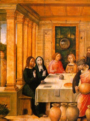 Marriage Feast at Cana by Juan de Flandes