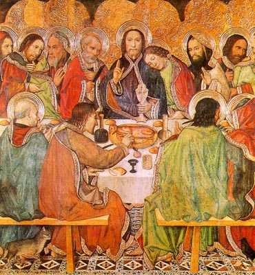 The Last Supper by Jaume Huguet,