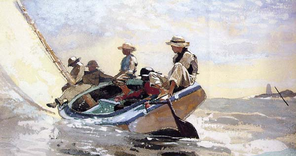 Sailing the Catboat by Winslow Homer