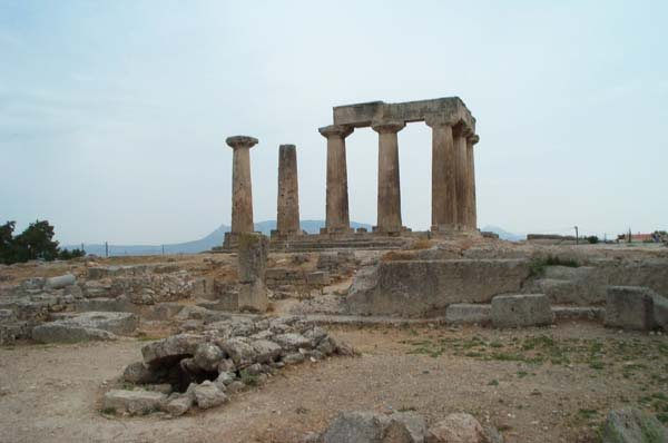 Temple in Ancient Corinth