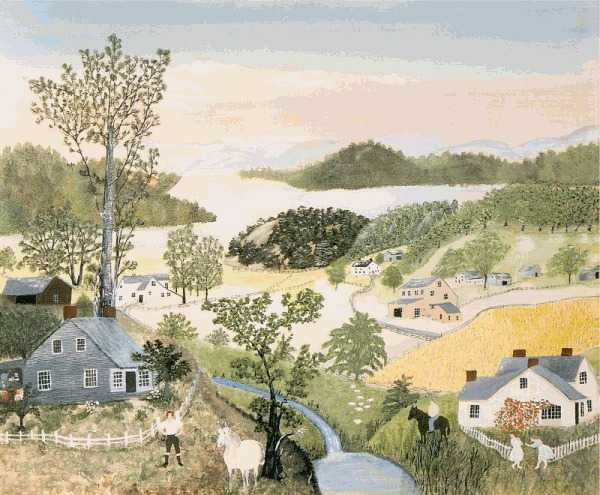 A Beautiful World by Grandma Moses