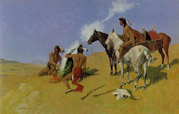 The Smoke Signal by Frederic Remington