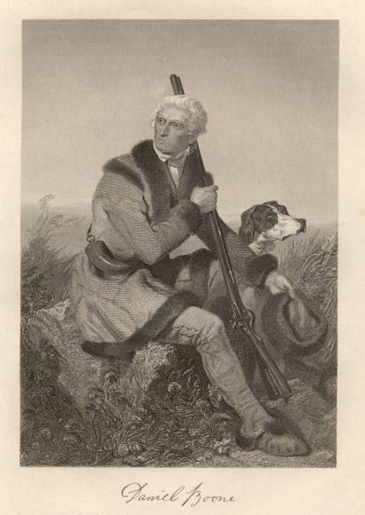 Daniel Boone engraving by Alonzo Chappel