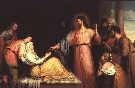 Healing of Peter's Mother-in-Law by John Bridges, 1818-1854